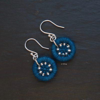 Dorset Button Earrings – Teal
