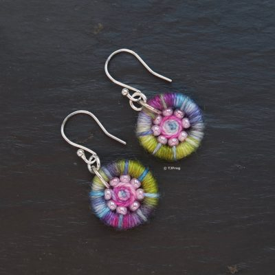 Dorset Button Earrings – Multi Coloured