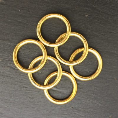 Hollow Brass Rings - Click image for details