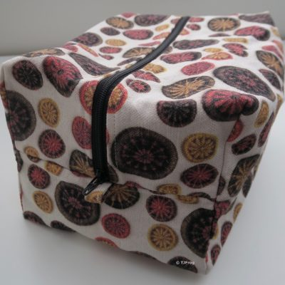 Large Project Bag – Orange, Gold & Brown – Deeper & Narrower