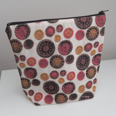Small Project Bag – Orange, Gold & Brown