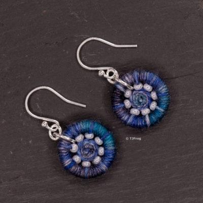 Dorset Button Earrings – Blues