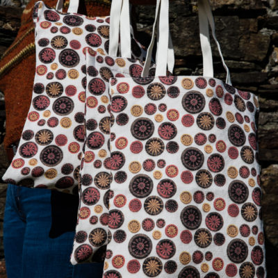 Tote Bag – Orange, Gold & Brown