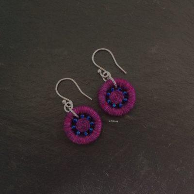 Dorset Button Earrings – Deep Pink
