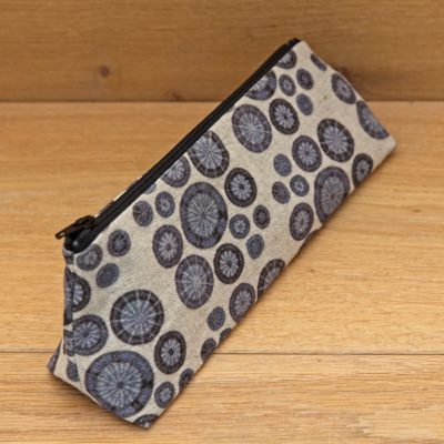 DPNs / Crochet Hook Bag – Indigo Blue with Black Zip