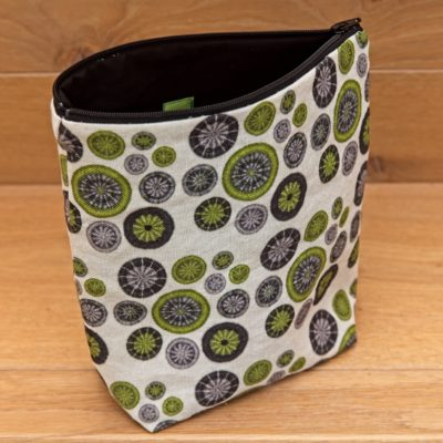Small Project Bag – Lime Green, Grey & Black