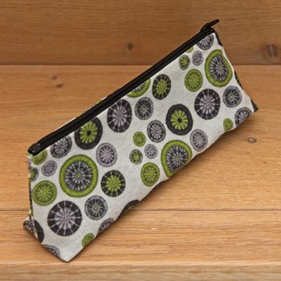 DPNs / Crochet Hook Bag – Lime Green, Grey & Black with Black Zip