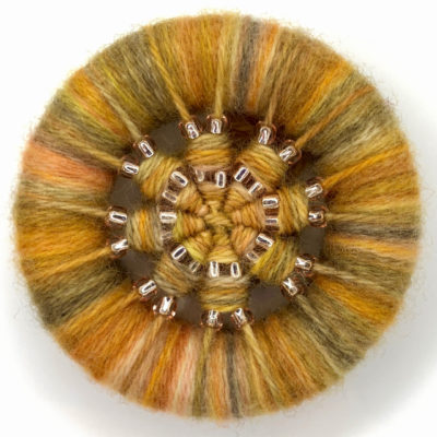 Dorset Button Beaded Brooch Kit – golds & greys