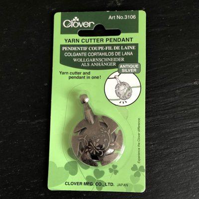 Clover Yarn Cutter Pendant Silver