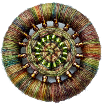 Dorset Button Beaded Brooch Kit – autumnal colours